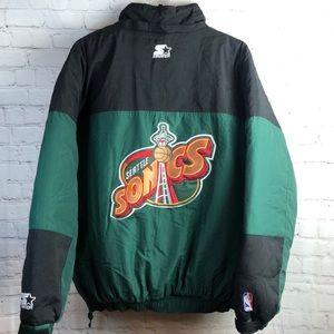 1990s Seattle sonics starter jacket. XL